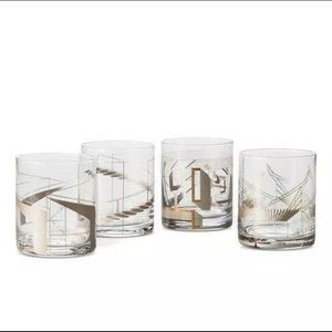 Magazine Metallic Cocktail Glasses 13.5 oz